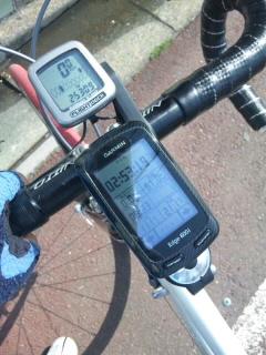 自転車練習終了